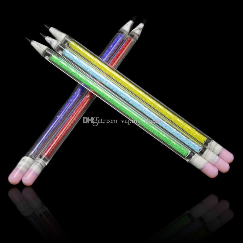Nouveau Design 3D en verre Dabber Crayon Forme Style de verre Pyrex Dabber outil 7 couleurs pour l'huile Rigs verre Bong Pipe