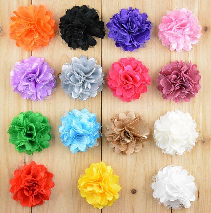 Großhandel 2 Haar Polyester Netz Garn Blumen Diy Baby Haar Zubehör ...