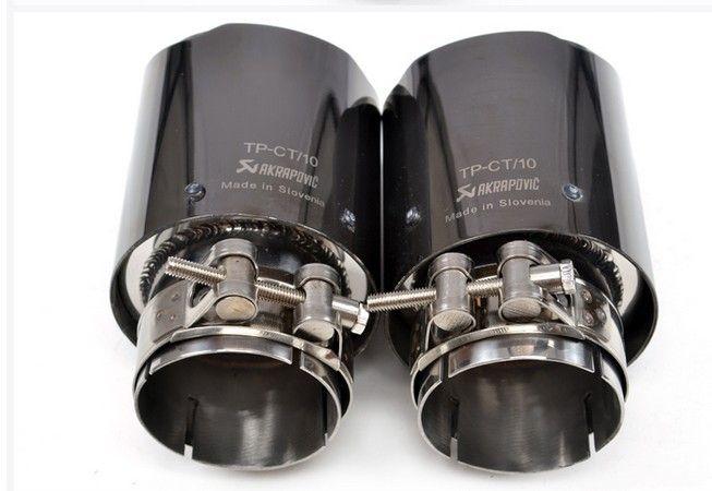 AKRAPOVIC 카본 파이버 배기 팁 머플러 배기 파이프 용 Titaniumr 시리즈 Inlet63mm-out90mm