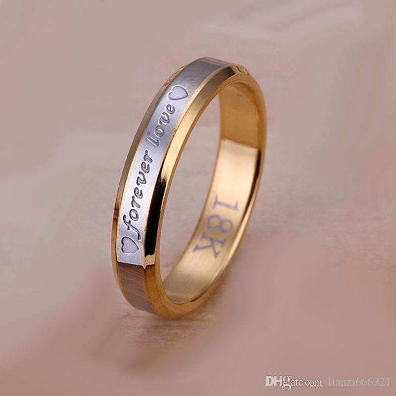 Envío gratis nueva joyería de moda de plata de ley 925 diamante flash para siempre amor con Pave zircon anillo pareja anillo venta caliente chica regalo 1751