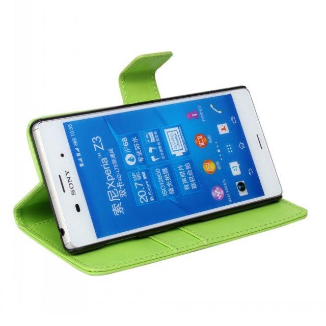 Il nuovo arrivo arriva il caso della copertura di vibrazione del raccoglitore del cuoio dell'unità di elaborazione Sony Xperia Z3 L55t con la funzione piegante Trasporto libero