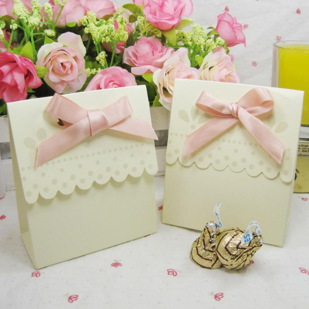 Yellow Ribbon Wedding Favor Box Marriage Party Boxes Candy Box Gift ...