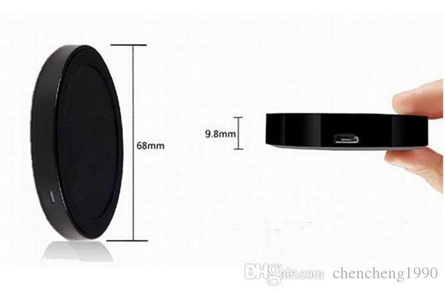 Con la caja al por menor de QI Cargador de carga de alimentación inalámbrica Pad para Samsung Galaxy S3 S4 S5 HTC Nokia LG IOS Android Universal