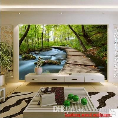 new can customized large 3d mural art wallpaper home decor personality visualnatural scenery wall stickers bedroom tv wall forest trail hd wallpapers hd hd - Wallpaper House Decor