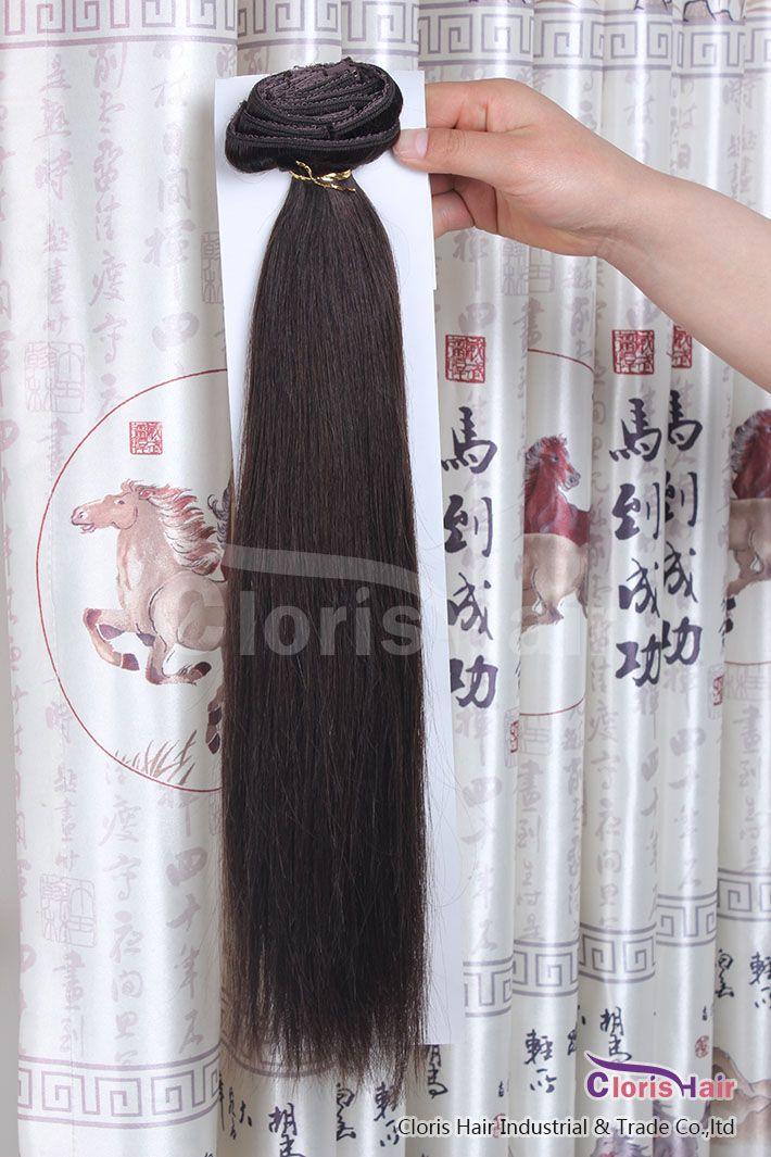 Barato grueso # 2 más oscuro marrón remy indian clip en extensiones de cabello humano Natural recta 70g cabeza completa 7 unids conjunto 18-22 pulgadas