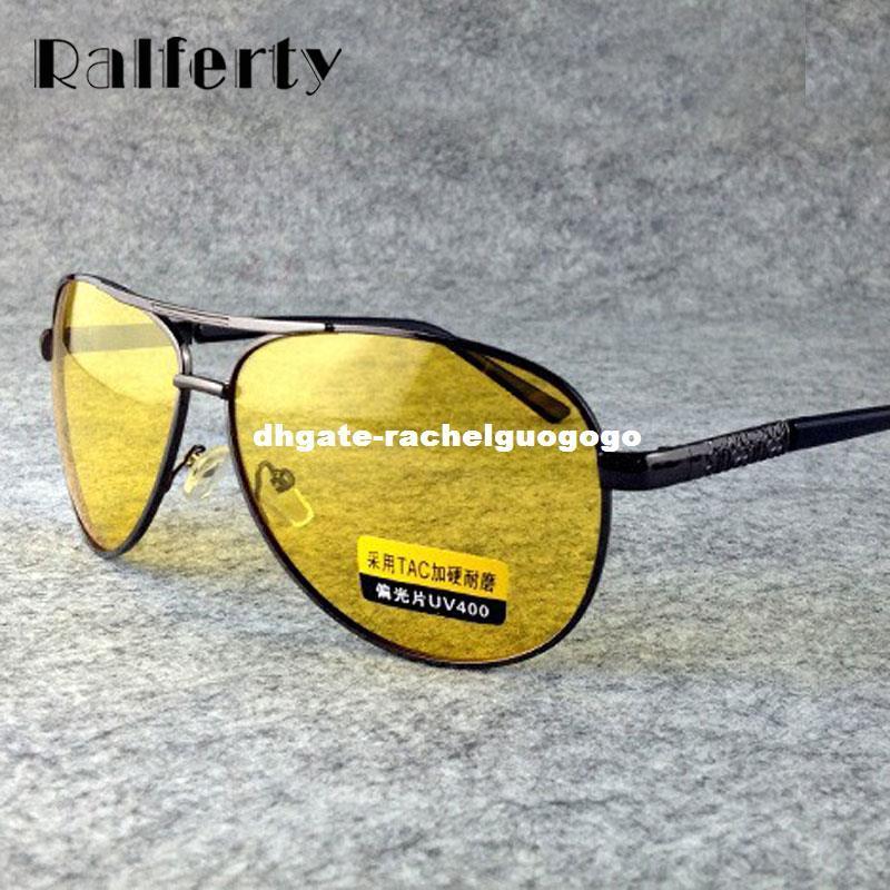b7bb7b1defd Ralferty Yellow Polarized Sunglasses Men Women Night Vision Goggles Driving  Glasses Driver Aviation Polaroid Sun Glasses UV400 Sunglass Cheap Sunglasses  ...