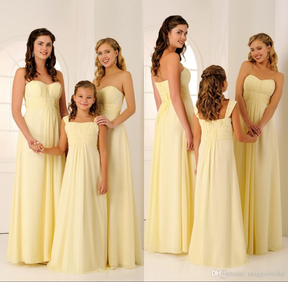 Junior and adult cheap bridesmaid dresses chiffon a line yellow junior and adult cheap bridesmaid dresses chiffon a line yellow long beach pleated simple wedding maid of honor dress bridmaid gowns mint green bridesmaid ombrellifo Choice Image