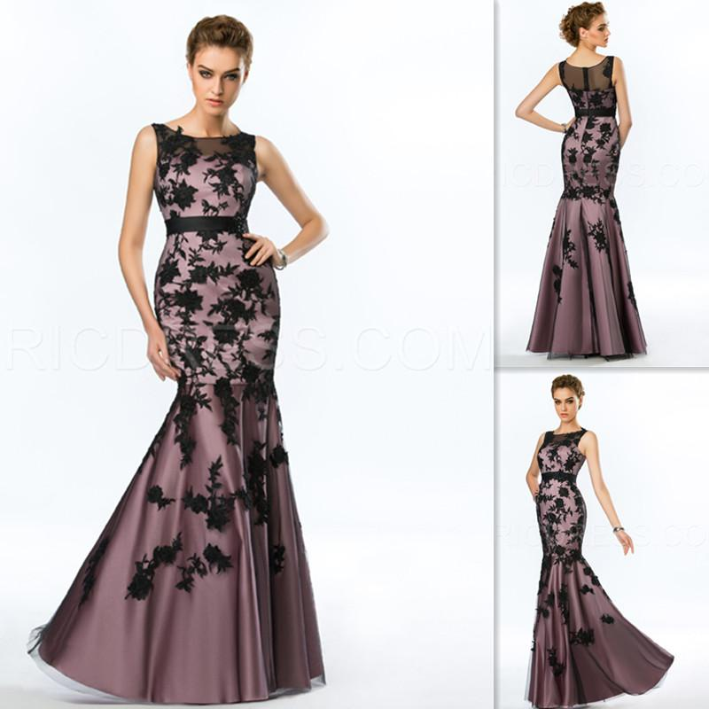 Indian Evening Gowns Black Lace Sheer Mermaid Formal 2015 Special ...