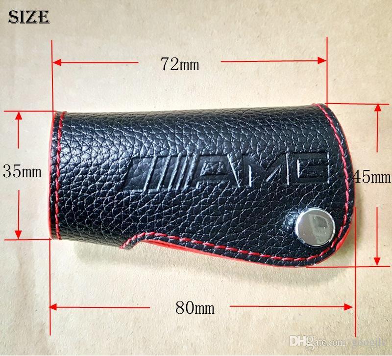 Genuine Leather AMG LOGO Key Bag Cover Key case Keybag Suitable For Mercedes Benz CLA CLK W124 W140 W163 W202 W204 W210 W211