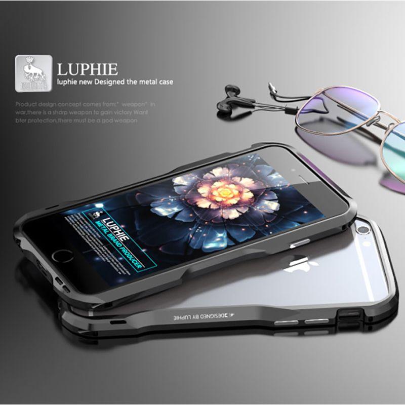 Protection Téléphone Portable Luphie Bumper Pour Iphone 6 4 .7 Boîtier En Alliage  D aluminium Pour Apple Iphone 6s Plus 5, 5 Armure Case Protection Ecran ... 8d130220eca
