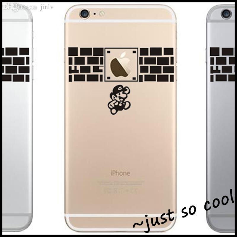 Best wholesale super mario mobile phone sticker for apple iphone 6 6 plus 5s decal vinyl cellphone skin adesivo pegatina para phone 6 plus under 19 93