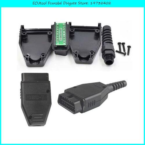 ECUTOOL FCAROBD Universal 16Pin 16 PIN OBDII OBD II OBD2 J1962 Connector Mannelijke Plug Adapter 16 PIN OBD-connector OBD2 16PIN-adapter