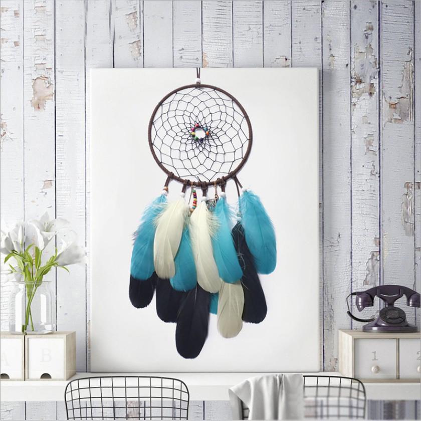 Enchanted Forest Vintage Dreamcatcher Handmade Dream Catcher Net Com Penas Wind Chimes Pendurado Diâmetro 16 centímetros