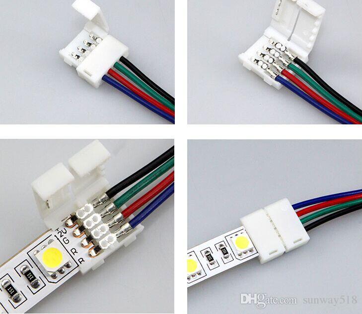 Luzes de RGB de 10mm nas articulações luzes coloridas com conexão de fio de conexão de fio de soldadura rápida livre 5050LED.