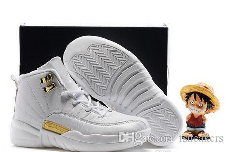 Air Retro 12 XII French Blue Pink Master OVO Kids Basketball Shoes Girl Boy  12s Sport Shoes Youth Sneakers Birthday Gift Boys Air Retro 12 Shoes Kids  Kids ...