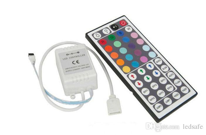 12 Volt 44 Touches Télécommande IR pour RGB LED Bande Lumière SMD5050 SMD 3528 Bandes Contrôleurs De Ruban De Bande DC 12V CE ROSH Livraison Gratuite