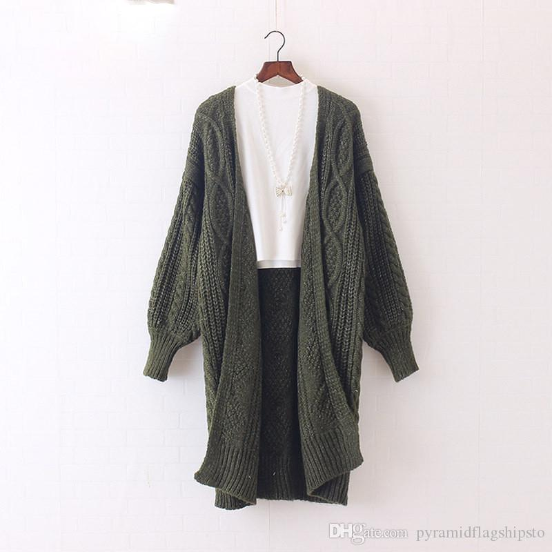 Sweaters Women Long Cardigans Autumn Winter Open Stitch Poncho Knitting Sweater Cardigans V neck Oversized Cardigan Jacket Coat