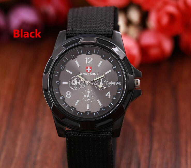 Luxury Army Watches Gemius Army Watch Racing Force Military Sport For Men Officer Fabric Nylon Band Knight Watch Army outdoor Sports watch