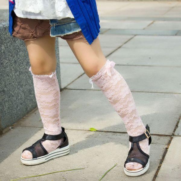 Ücretsiz gemi 2015 kızlar dantel çorap kız yay çorap kız Diz Yüksekler kızlar diz çorap bebek edwin Çocuk dantel medya corta k ...