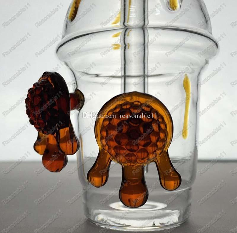 Starbucks Cup Dab Concentrate Oil Rig & Cheech Glass Honey Cup Oil Rig Glass Water Pipes Joint Size 14.4mm