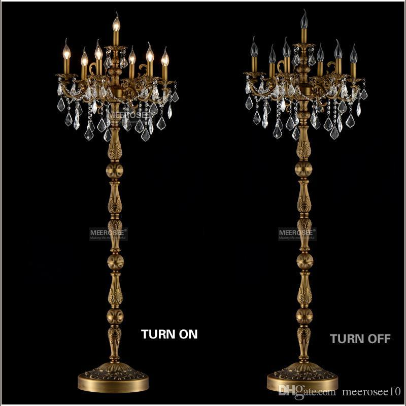Online Cheap Classic 7 Lights Crystal Floor Lamp, Floor Stand Light Fixture  Cristal Lustre Candelabra Standing Lamp Centerpiece By Meerosee10 |  Dhgate.Com