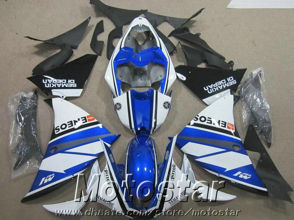 ABS Motorrad Verkleidung Kit für YAMAHA YZF-R1 2009-2011 2012 2013 schwarz blau weiß YZF R1 Verkleidungen 09-11 12 13 HA35 gesetzt