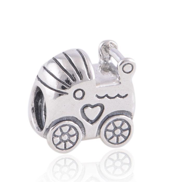 % 100 925 Gümüş Bebek Arabası Boncuk Avrupa Takı Pandora Chamilia Charm Bilezik uyar