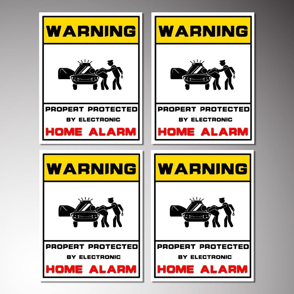 Free Fedex Stickers Warning Signs Sticker For Alarm Sectrity - Window stickers for home security