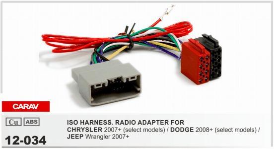 Carav 12 034 Iso Radio Adapter For Chrysler 2007+ Select Models ...