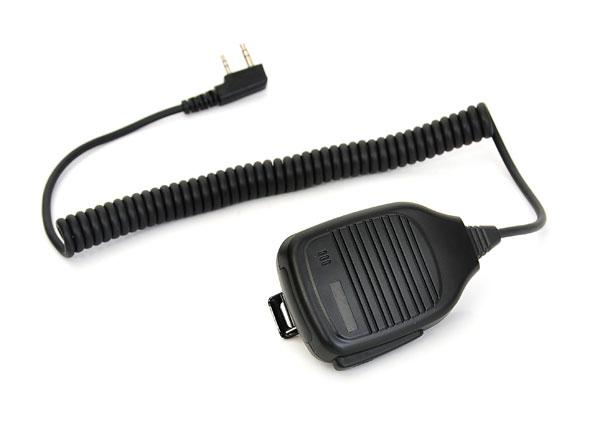 New 2 PIN C504 Handheld PTT Speaker Mic for QUANSHENG PUXING WOUXUN TYT BAOFENG UV5R KENWOOD Radio Black C9001A Alishow