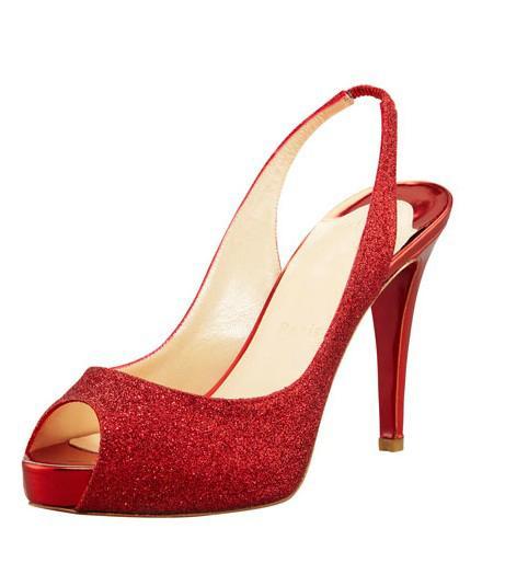 8b0155245c3 Red Glitter Peep Toe Sandals Handamde Women Shoes Open Heel Thin ...