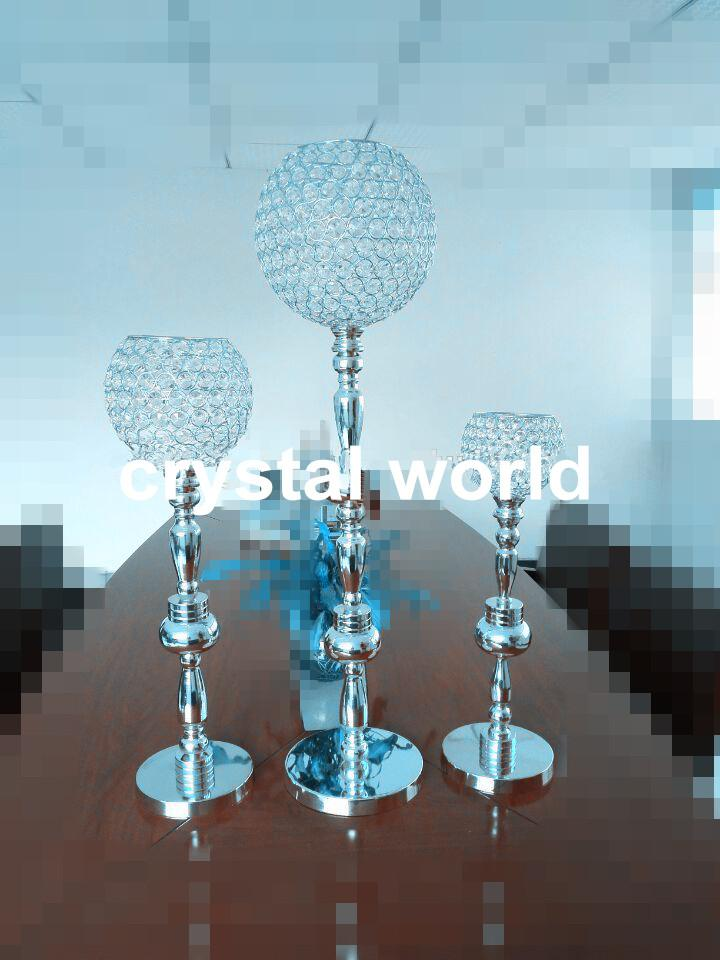 Elegant Sliver Iron Crystal Flower Stand Wedding Crystal Table Centerpieces  89 Tall Candle Holders For Weddings Crystal Candle Holders For Wedding  Crystal ...