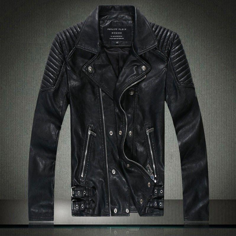 Online Cheap Autumn Winter Dress Leather Jacket Men Slim Skull ...