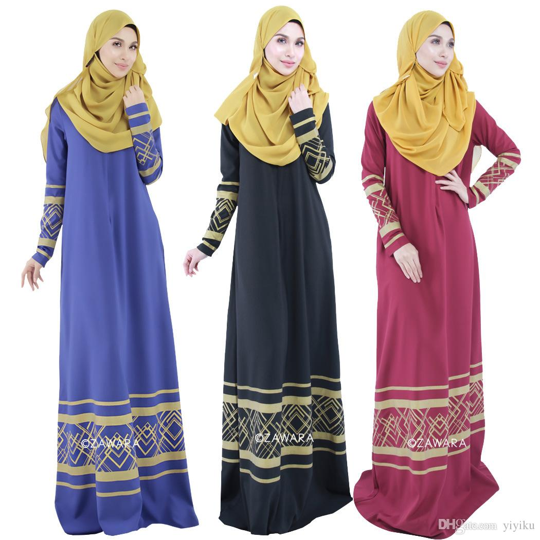 2015 Fashion Muslim Abaya Dress For Women Islamic Abaya Dresses ...