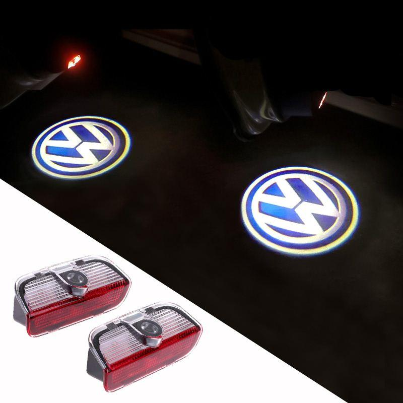 Led Door Warning Light With Vw Logo Projector For Vw Golf 5 6 7