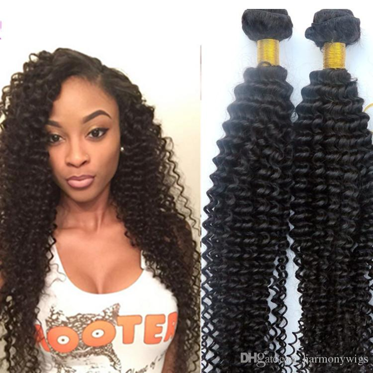 Virgin Brazilian Hair Weaves Human Hair Bundles Kinky Curly Wefts 8