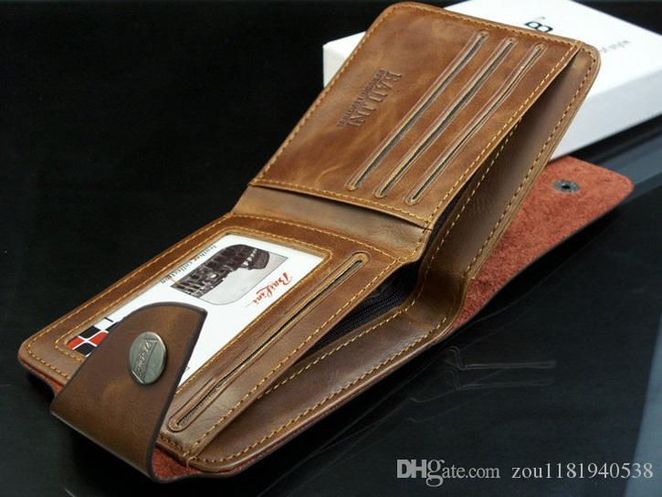 Brown fashion style men purse wallet 501 quality leather soft bifold credit card holders wallets for men