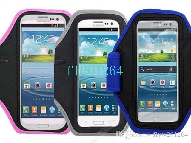 Fedex DHL Livraison Gratuite Sport Brassard Etui Couverture Pour Samsung Galaxy S5 S4 S3 Brassard Sac, /