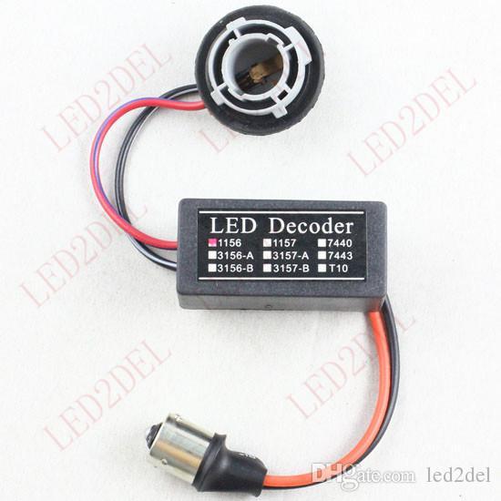 P21W BA15s 1156 LED Avertissement d'ampoule Décodeur Scintillement Code d'erreur Annuleur de charge Résistance de charge Prise sans erreur