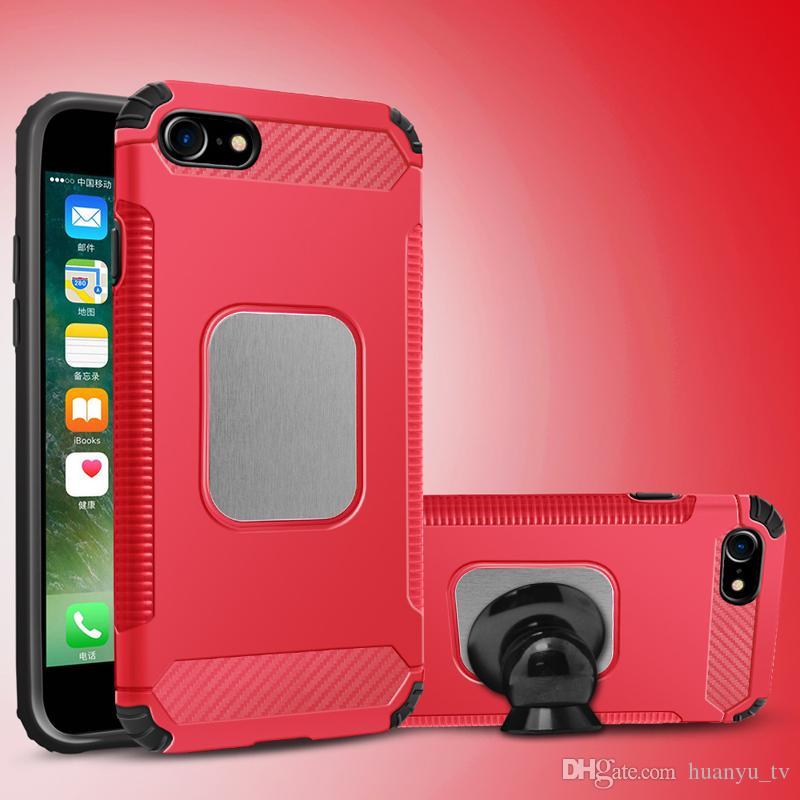 For Iphone 6/6plus/7/8plus/Iphone X /Samsung Galaxy J7 2017 Without kickstand TPU PC newest styles High quality Vehicle phone case