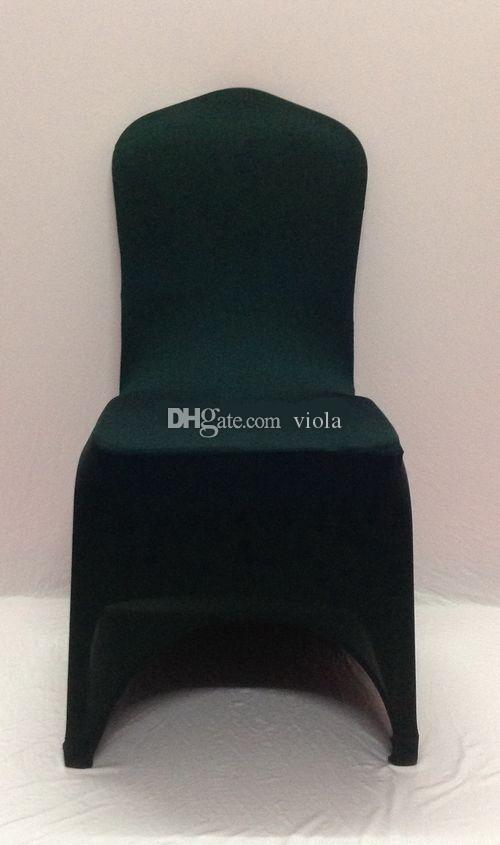 Black Lycra Wedding Chair Cover Arch Front ,Spandex Chair Cover for Weddings Events &Banquet &Party Decoration