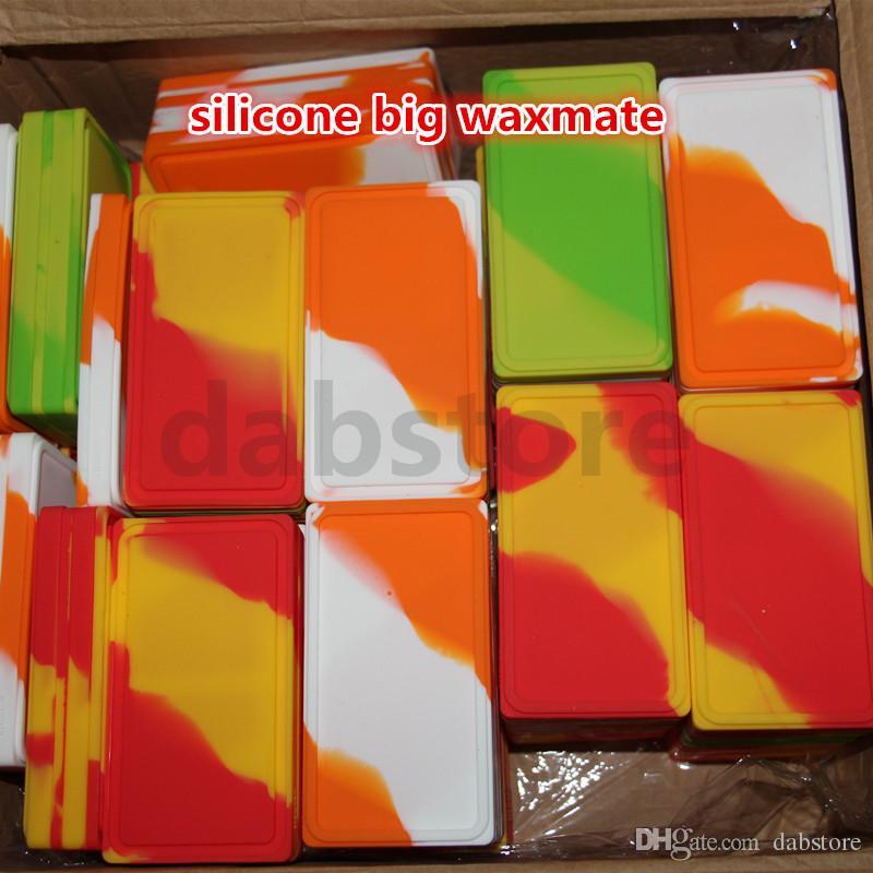Accessoires de cigarette électronique Grand récipient antiadhésif de waxmate de silicone pour cire Bho huile butane pot de silicium Jars Dab conteneur de cire DHL