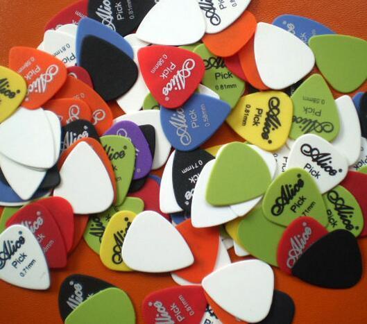 Nova / Bass Guitar Picks Alice multi Liso ABS personalizado Acústico elétrica Guitarra palhetas Acessórios Musical Instrument PUAs