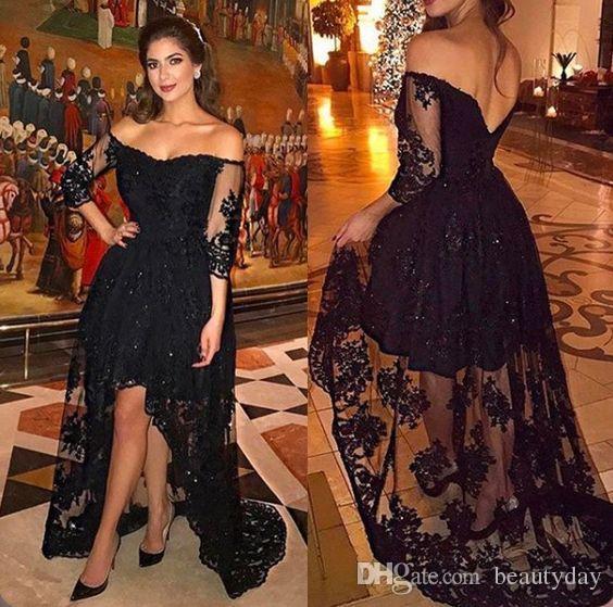 Großhandel Yousef Aljasmi 2018 Middle East Prom Kleider Hallo Lo ...