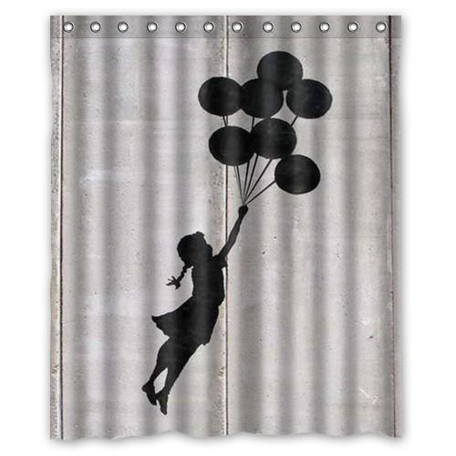 Famous Designer Art Balloon Girl Banksy Shower Curtain 60x72 Bathroom Thicken Waterproof Accessories For Bath Online With 4043 Piece On