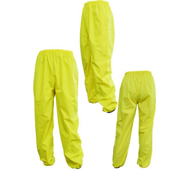 Hombres Deportes Impermeable a prueba de viento Reflectante Transpirable Bicicleta Impermeable Pantalones Ciclismo Viento Pantalones de Lluvia