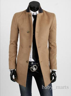 Discount Mens Trench Coat 2016 New Fashion Designer Men Long Coat ...