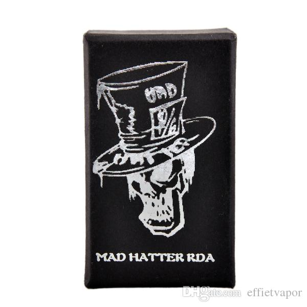 Mad Hatter RDA Atomizer Fold Drip Tips E Cigarette Atomizer Stainless Steel Copper Black White Mad Hatter Rda suit for sigelei ipv mod