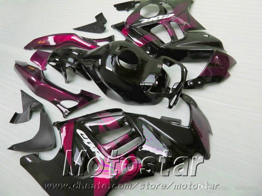 kits de cuerpo personalizar para HONDA CBR600 F3 carenados 1995 1996 rojo negro plástico carenado kit CBR 600 95 96 ZB66