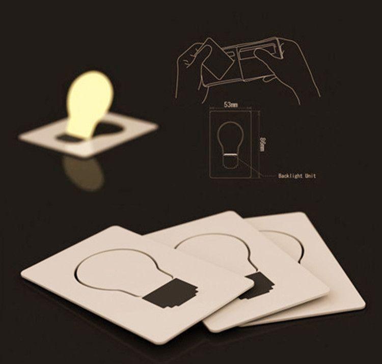 / Design creativo Mini Pocket Pocket lampada pieghevole colorato LED Light Card Light LED di Natale Luce di Natale come regali di illuminazione